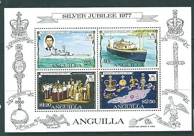 Anguilla Sgms273 1977 Silver Jubilee Mnh