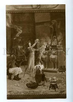 170882 EGYPT Offering OPIUM Smoker by CHAPERON old SALON 1914