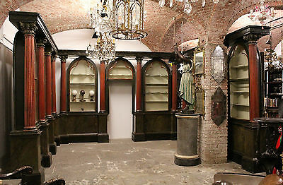 Furniture From Pharmacy Period Eighteenth Century/antique Pharmacy/wainscoting