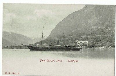 Post Card Early Printed Norway Hotel Centra, Stryn--- Nord Fjord