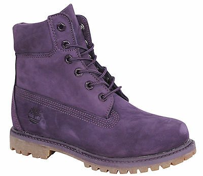 Details about Timberland AF Icon 6 Inch Premium Womens Boots Lace Up Nubuck Black A14PC B70B