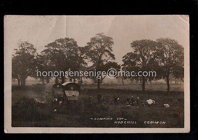 Hodgehill Common Gypsies Camping Out Two Wagons Real Photo Postcard 1910