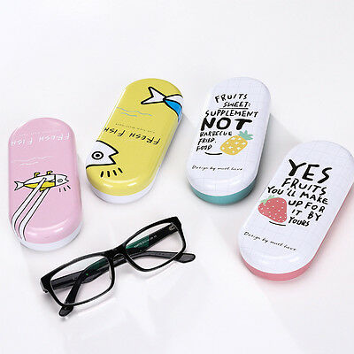 Cartoon Eye Glasses Sunglasses Hard Case Box Portable Protector Holder Clam Box