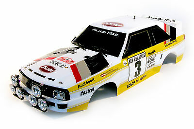 The Rally Legends Audi Quattro Sport Rally Scale Replika Karosserie 1:10 TRL110