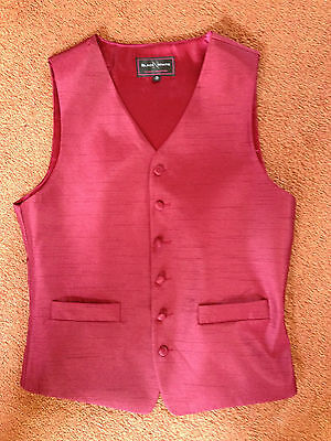 """Mens Red Silk Waistcoat Size 36"""" Chest"""