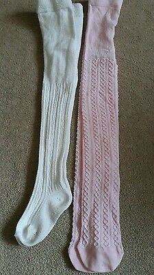 2 Pairs of Girls Tights Age 4-5 Years (Mothercare and TU)