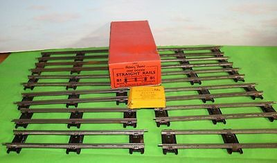 Hornby Trains O Gauge B1 Straight Rails Boxed & Connecting Plates One Dozen