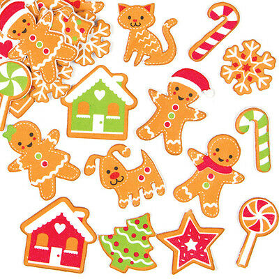 Christmas Children's Crafts Gingerbread Foam Stickers (Pack of 120)