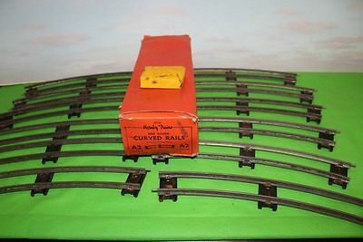 Hornby O Gauge A2 Curved Rails One Dozen Boxed &  Plates