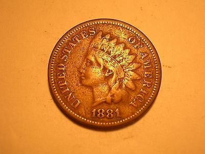 1881 Indian Head Cent (Fine & Attractive)