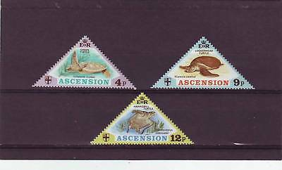 a112 - ASCENSION ISL - SG171-173 MLH 1973 TURTLES