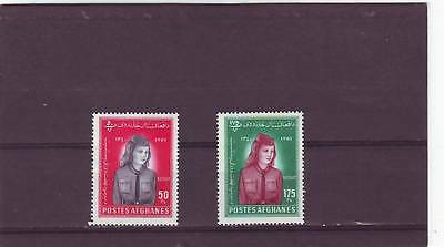 a114 - AFGHANISTAN - 1961 MNH 2v WOMANS DAY & SCOUTING