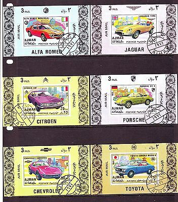 Ajman - 1971 Classic Motor Cars Nh/cto Imperf Deluxe S/s #1