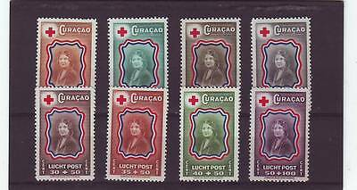 Curacao - Sg224-231 Mlh 1944 Red Cross Fund