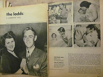 Alan Ladd, Two Page Vintage Clipping