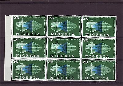 Nigeria - Sg105 Mnh 1961 Admission To Upu - Block Of 9
