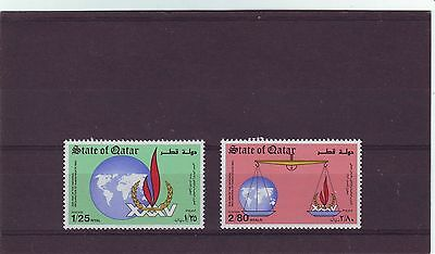 QATAR - SG763-764 MNH 1983 35th ANNIV DECLARATION OF HUMAN RIGHTS