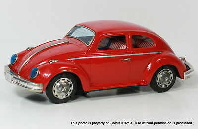 """Vintage 1960's BANDAI 15"""" TIN VOLKSWAGEN VW Battery Operated WORKS!"""