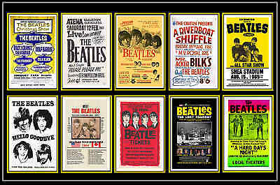 Beatles  -  Collection Of 10 Mixed Postcards # 1