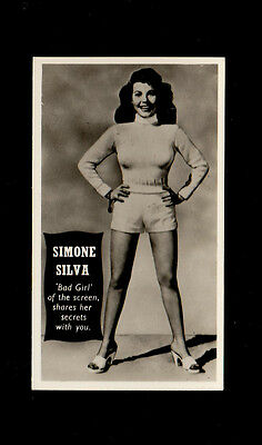"Tit-Bits 1953 Superb Scarcer Beauty Card  "" Simone Silva -- Star Cover Girls"