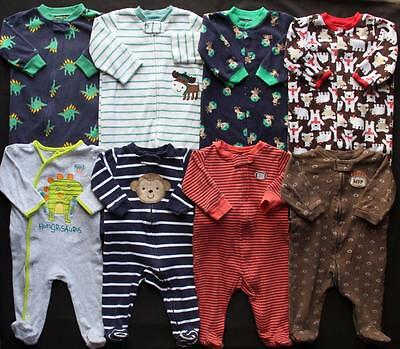 Baby Boy 3/6 6 Months Sleepers Pajamas Clothes Lot