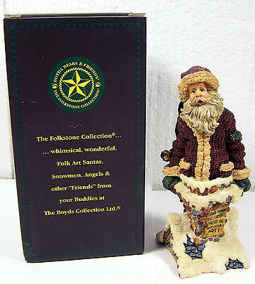 BOYDS BEARS & FRIENDS FOLKSTONE Too Many Cookies SANTA CLAUS CHRISTMAS 28007