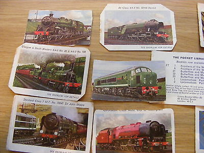 Collection of Loose Lyons Tea Pocket Library Picture Cards - 12 cards in total