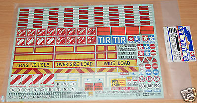 Tamiya 56534 Sticker Set for 1/14 Scale R/C Truck & Trailer (Scania/MAN/Actros)