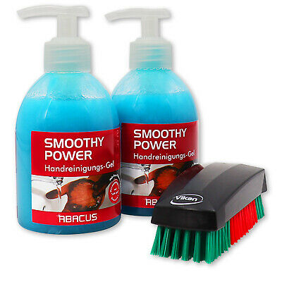SMOOTHY POWER 2x 300 ml + VIKAN NAGELBÜRSTE 644052 - Handwaschpaste Handseife