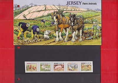 Jersey, 26th Aug, 2008, Farm animals, set of 5, Presentation pack.