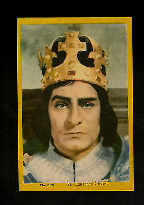 "Anonymous -- Interesting Scarcer ( Film Star ) Card "" # 330 Sir Laurence Olivier"