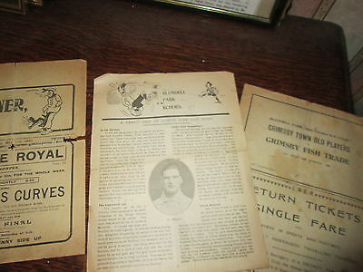 GRIMSBY TOWN RESERVES v WATH ATHLETIC [MIDLAND LEAGUE] 3RD MAY 1930