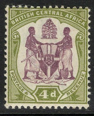 NYASALAND SG57e 1901 4d DULL PURPLE & OLIVE-GREEN MTD MINT