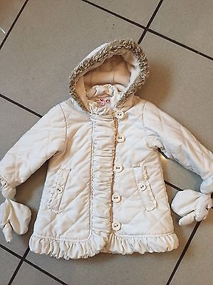 Marks And spencer Girls Quilted Winter Coat Jacket Age 2 - 3