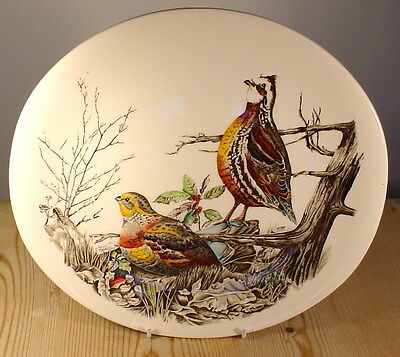 Johnson Brothers Game Birds Quail Large Oval Dinner Plate