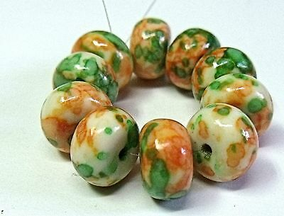 "Gemstone  Beads ,dyed White Jade, ""peach Cocktail"""