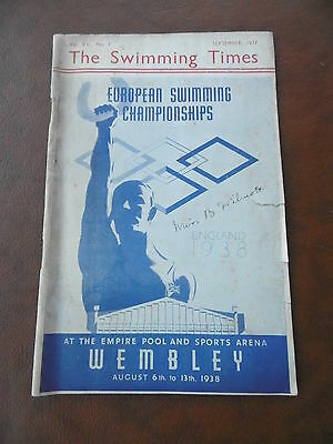 September 1937 The Swimming Times Magazine  Scarce