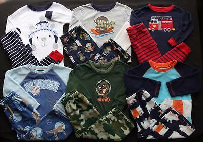 Baby Boy 24 Months 2T Winter Pajamas Sets Clothes Lot