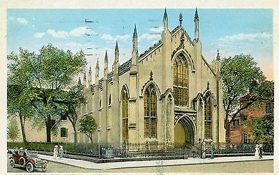 "Charleston Sc ""hugenot Church, French Protestant"" Pre Linen Postcard 1947 Cancel"