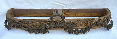 French Antique Empire Bronze Bed Canopy Flowers Garlands 19th C