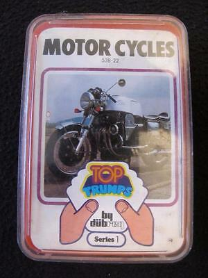 VINTAGE 1970's PACK of DUBREQ TOP TRUMPS GAME CARDS - SERIES 1 - MOTOR CYCLES