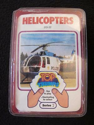VINTAGE 1970's PACK of DUBREQ TOP TRUMPS GAME CARDS - SERIES 2 - HELICOPTERS