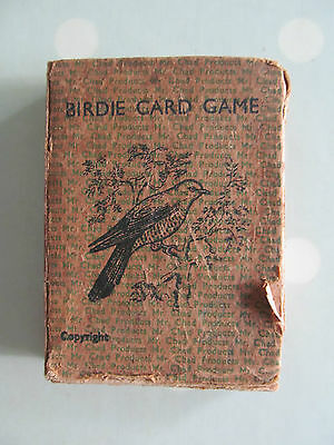 Birdie Card Game A Very Rare Vintage Game About Birds And Their Eggs