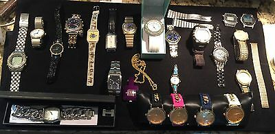 Lot Of 23 Assorted Men's & Ladies Watches