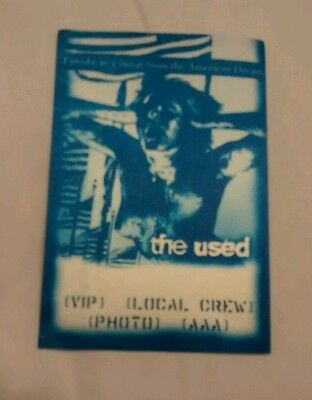 The Used Tour Backstage Pass PERRI