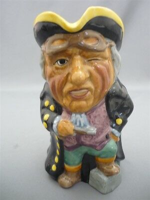 "Vintage Staffordshire ""HIGHWAYMAN"" England Large Character Toby Jug Mug by Manor"