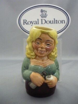 """THE BARMAID"" Betty Bitters Royal Doulton Doultonville Character Toby Jug D6716"