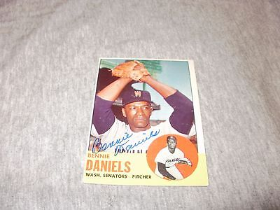 Signed 1963 TOPPS BENNIE DANIELS CARD #497 and Wriitten Reply
