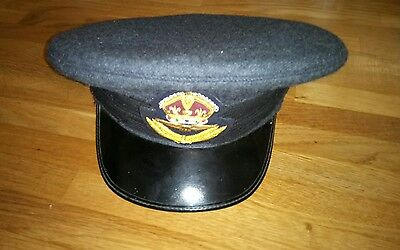ALLIED BRAD PITT SCREEN USED film prop WWII CAP HAT ROYAL AIR FORCE
