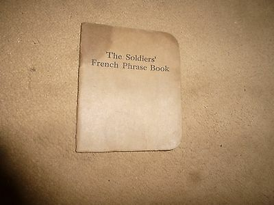 Vintage WW I Booklet -The Soldiers' French Phrase Book-Felt & Tarrant Mfg